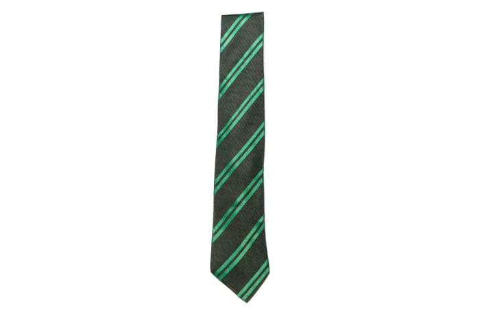Black with Green Stripes Neck Tie