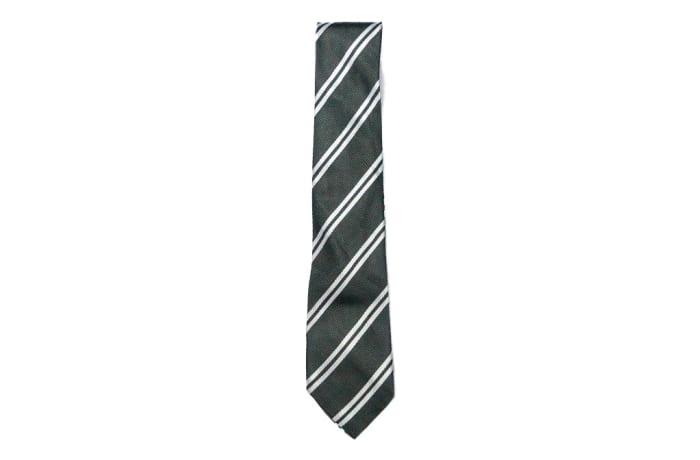 Black with White Stripes Neck Tie