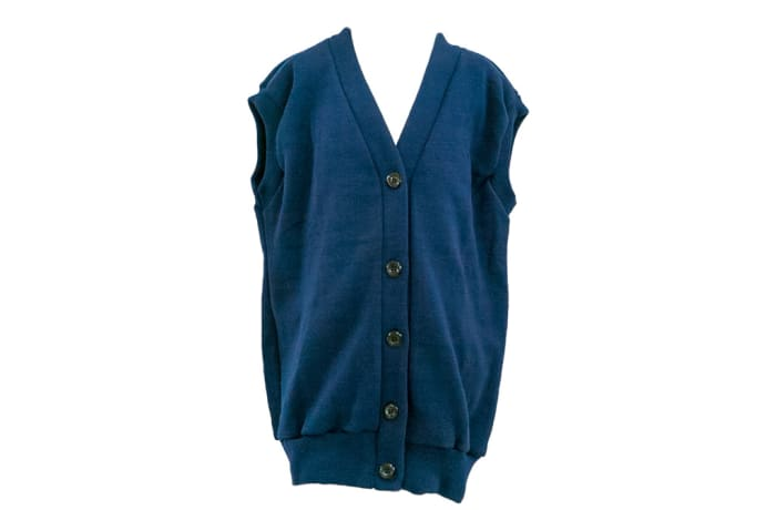 Sleeveless Blue Dallas Cardigan