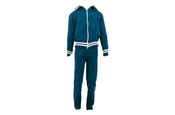 Blue with White Stripes Track Suit