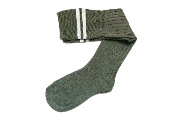 Gray with White Stripes Stockings