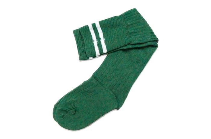 Green with White Stripes Stockings