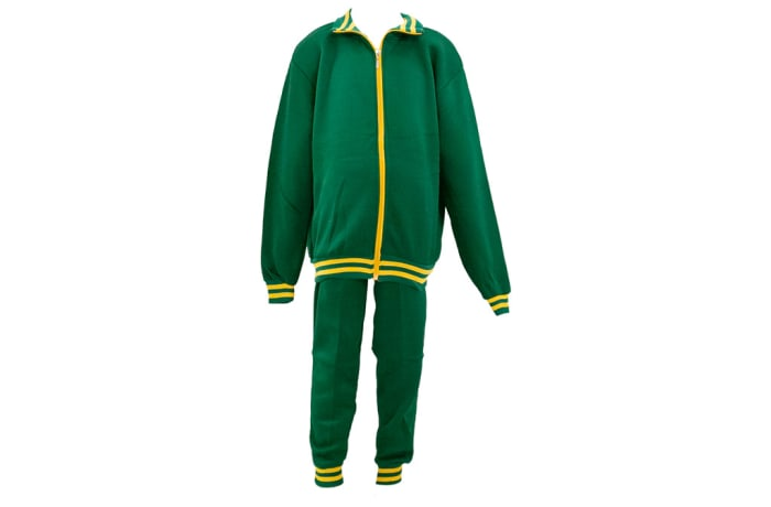 Green with Yellow Stripes Track Suit