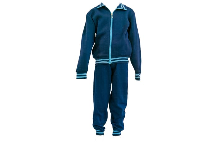 Navy Blue with Light Blue Stripes Track Suit