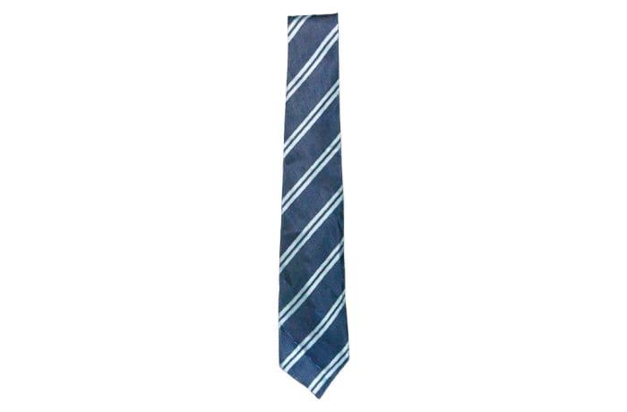 Navy Blue with White Stripes Neck Tie