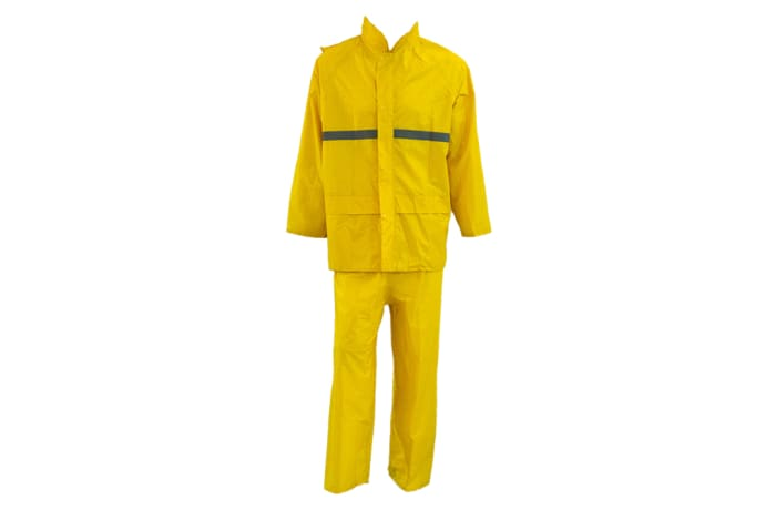 Two Piece Yellow Rain Suit