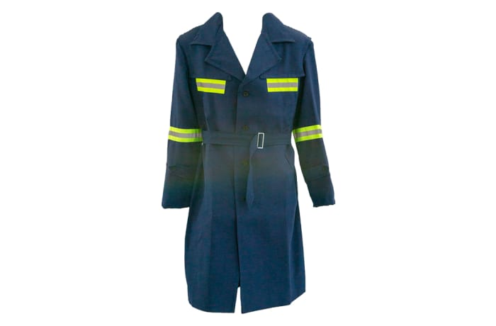 Navy Blue Reflected Weather Coat