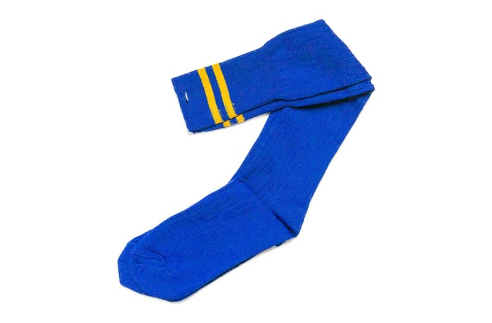 Royal Blue with Gold Stripes Stockings