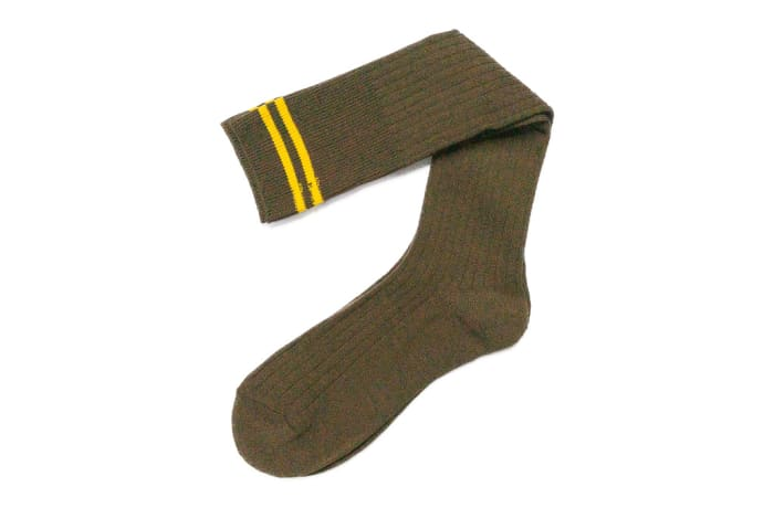 Brown with Yellow Stripes Stockings