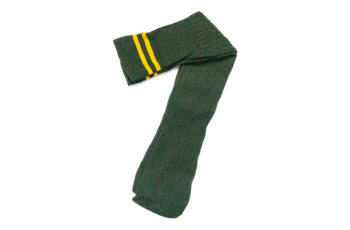Bush Green with Yellow Stripes Stockings