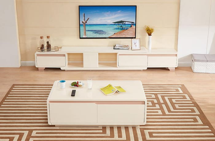 Coffee table and telescopic TV cabinet 120706