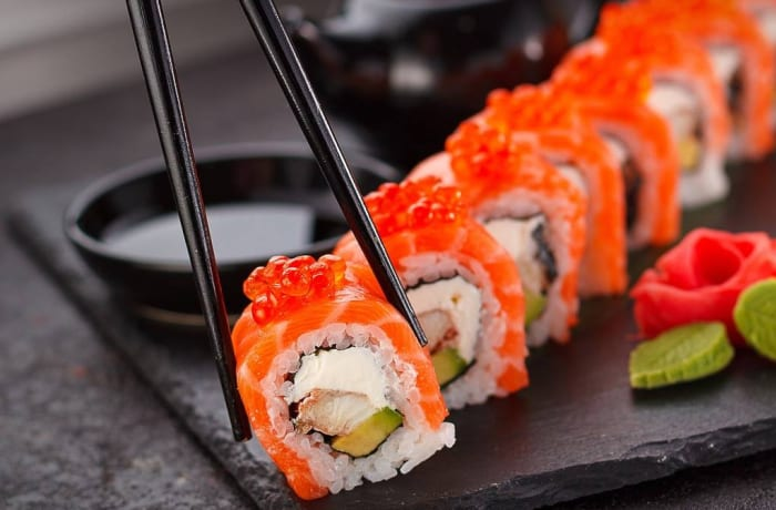 Seafoods - Sushi with Salmon