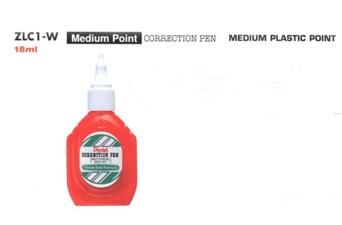 Correction Pens & Tape - ZLC1-W Medium Point Correction Pen Medium Plastic Point