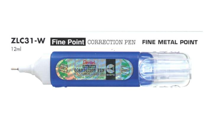 Correction Pens & Tape - ZLC31-W Fine Point Correction Pen Fine Metal Point