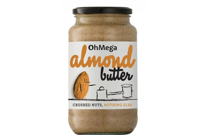 Ohmega Almond Butter  Crushed Nuts, Nothing Else 400g