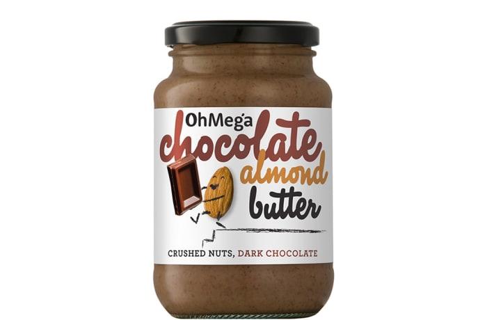 Ohmega Chocolate Almond Butter Crushed Nuts, Dark Chocolate 400g