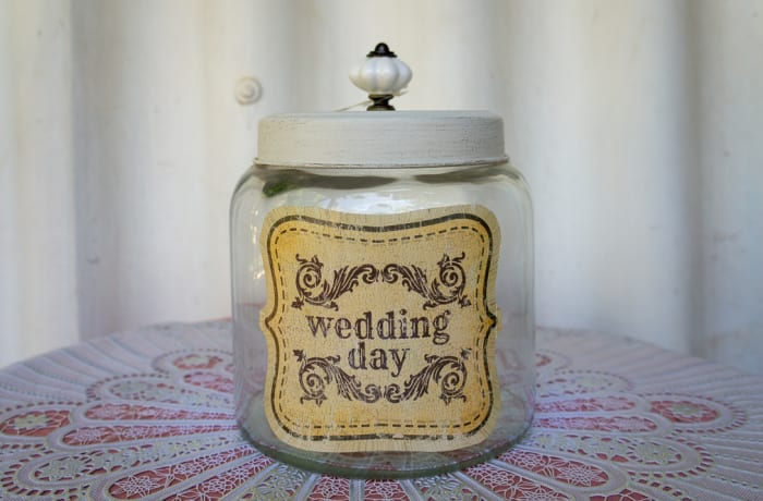 Wedding Day Glass Jar