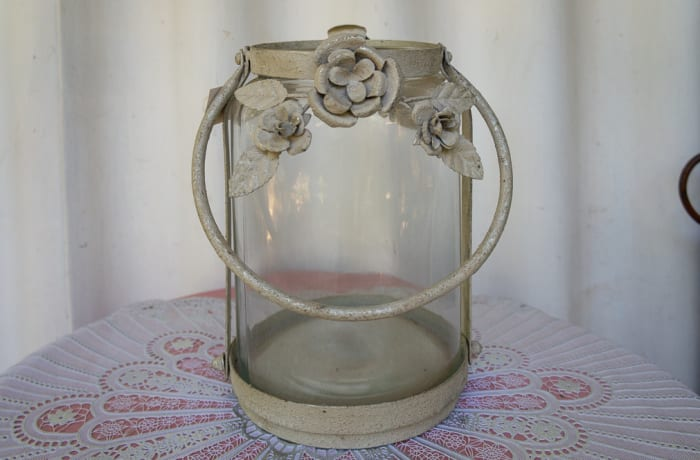Antique Glass Jar with Handle