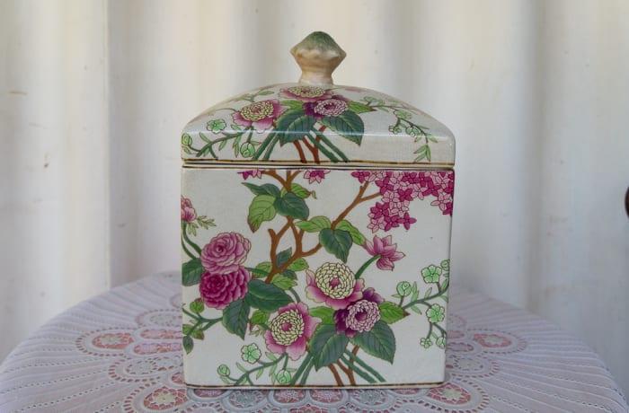 Purple Porcelain Jewellery Jar