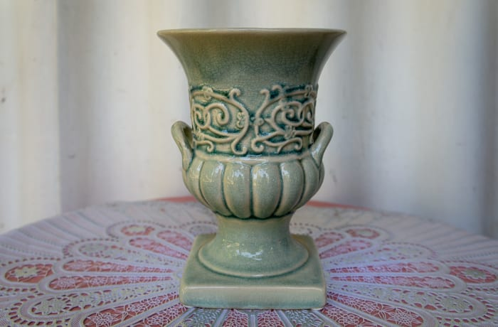 Light Green Open Porcelain Vase