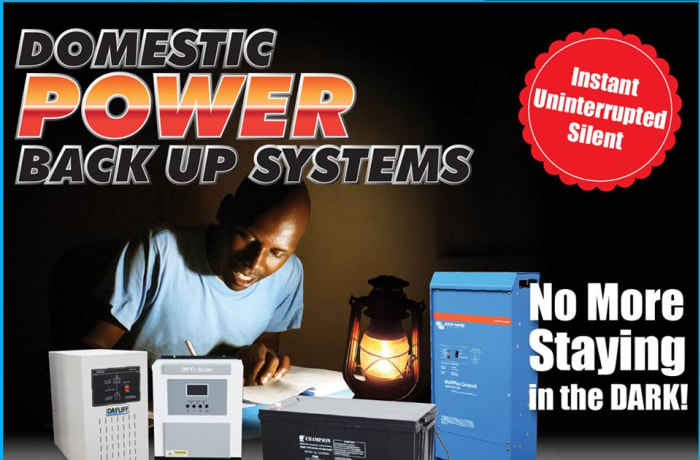 Domestic power backup systems image