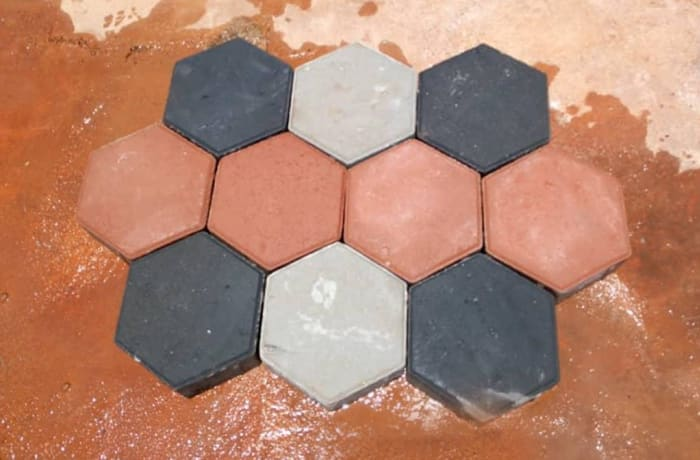 Hexagon shaped paver