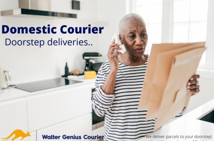 Door to door parcel collection and delivery image