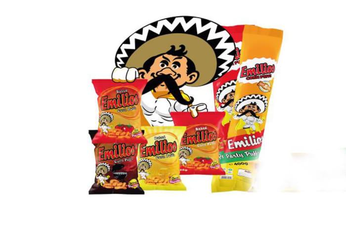 Emilios Corn Puffs - Assorted 400g Tube