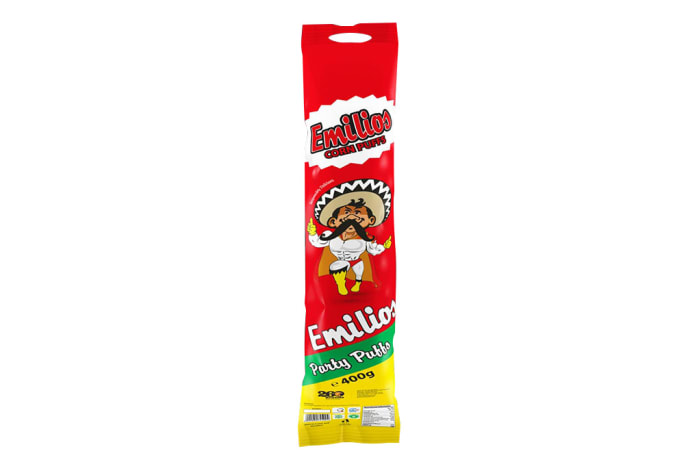 Baked  Emilios  Party Puffs Corn Puffs 400g