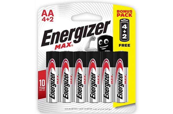 Energizer 4+2 AA Max - Alkaline Batteries 4+2 Pack