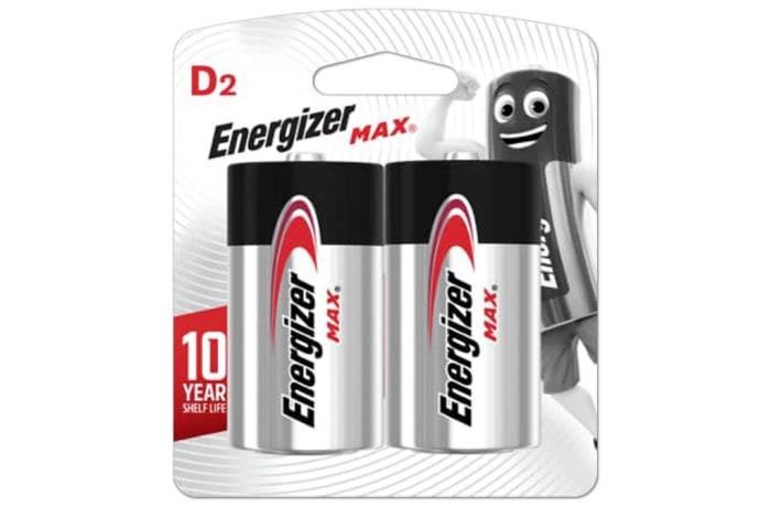 Energizer Size D Max - Alkaline Batteries 2 Pack