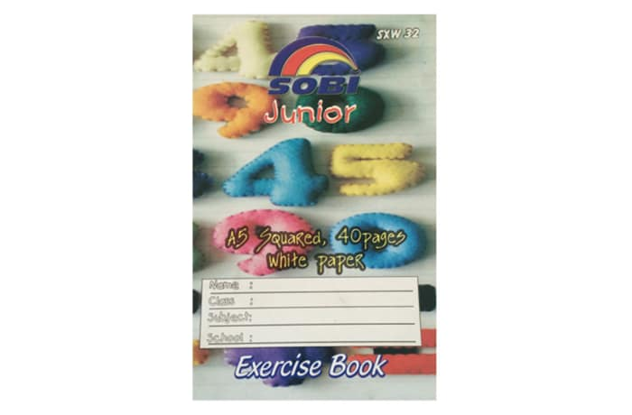 Exercise Book 40P A5 Squared Big