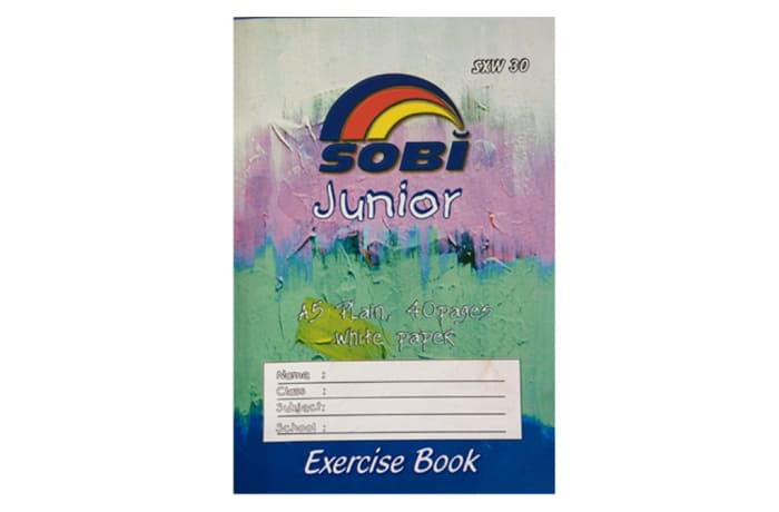 Exercise Book A5 40 Pages Plain