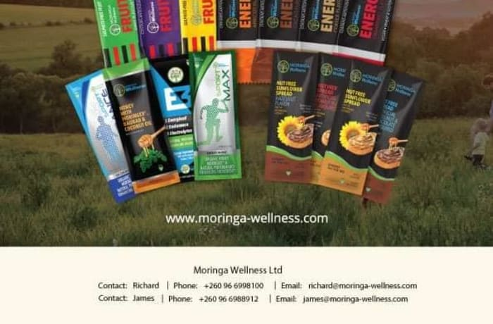 Moringa Wellness energy and fruit bars available at Fig Tree Cafe image