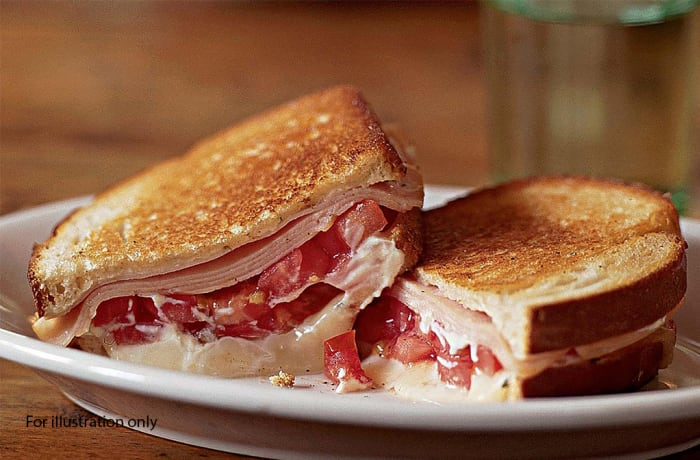 Toasted Sandwiches - Ham Cheese & Tomato