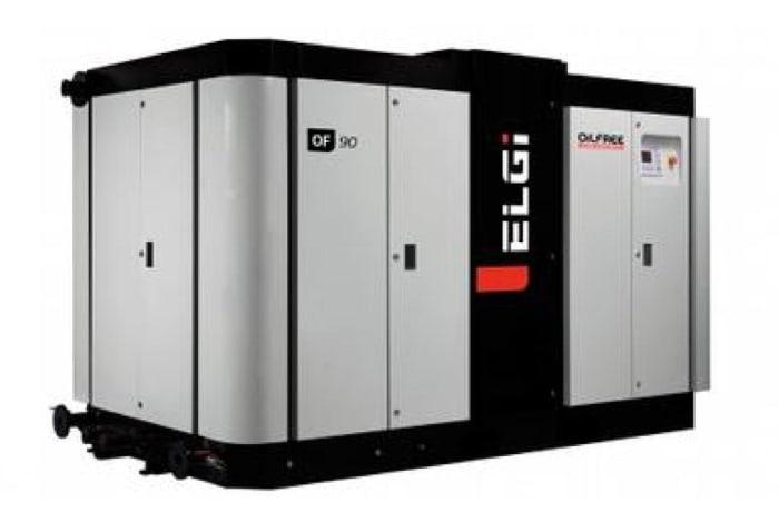 Oil-free screw air compressors