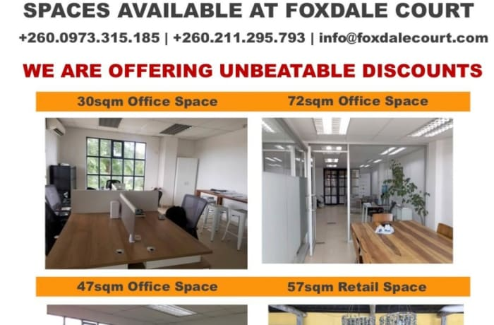 Spaces available on rent at Foxdale Court Office Park image