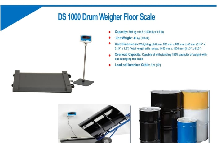 DS 1000 Drum Weigher Floor Scale now available image