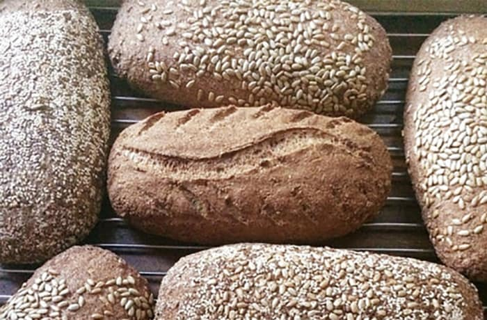 Gluten-free seeded bread + farmhouse