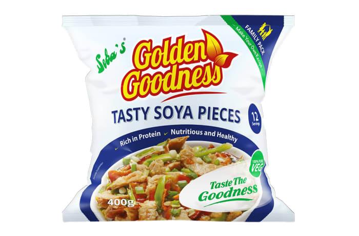 Golden Goodness  Tasty Soya Pieces  25 X 400g