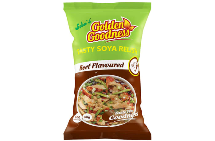 Golden Goodness - Tasty Soya Relish Beef Flavoured  4 x 4kg (100 Portions)