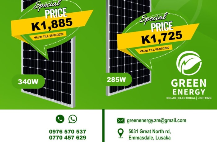 Enjoy great savings on 285W and 340W solar panels image