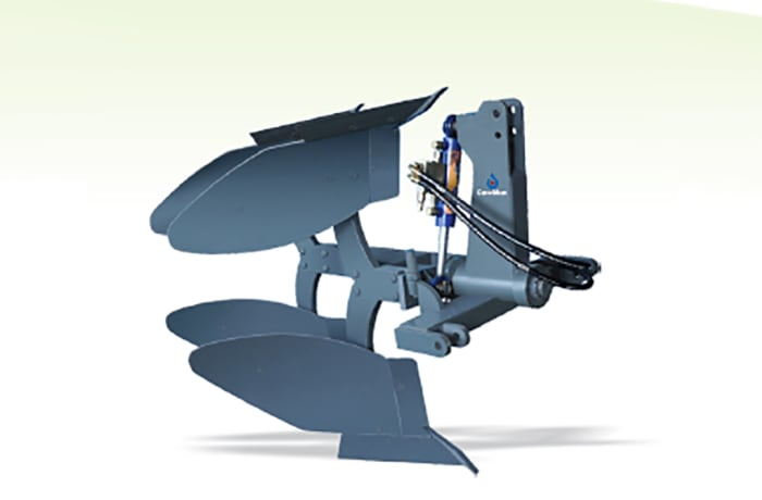 Hydraulic Reversible Plough - Double farrow Grey