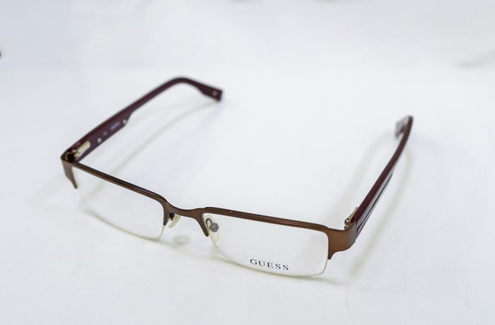 Guess Semi-Rimless Eyeglass Frames - Matte Brown