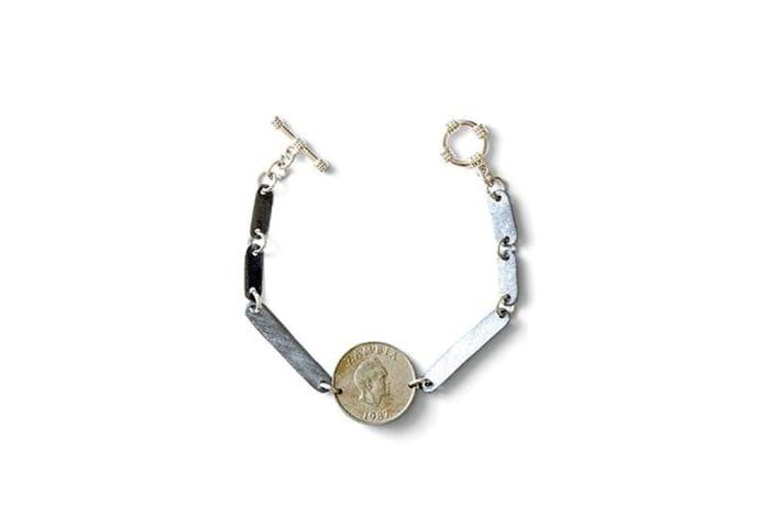 Gypsy snare & vintage coin bracelet