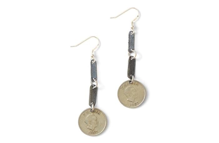 Gypsy snare & vintage coin earrings