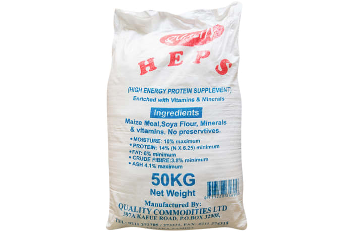 H.E.P.S Fortified High Energy Protein supplement - 50Kg