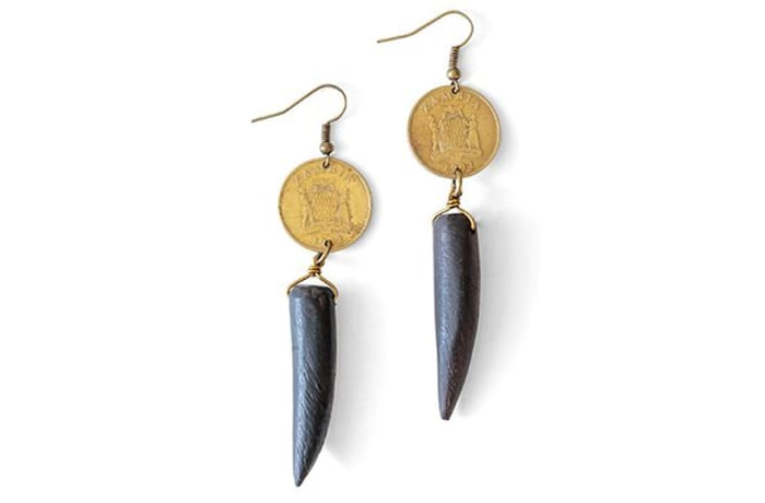 Heritage blackwood horn earrings