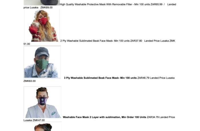 High quality washable and reusable protective masks on sale image