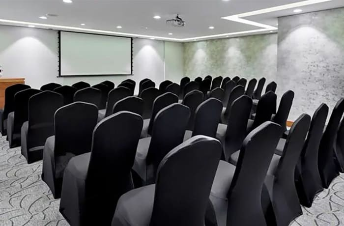 A conference venue with modern equipment image